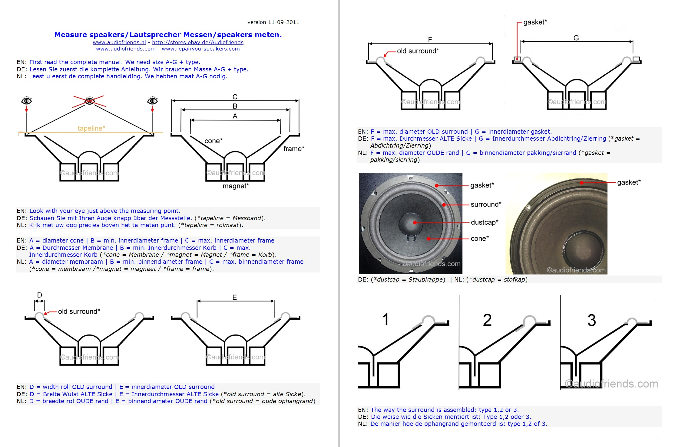 Repair Your Speaker With Foam Surrounds From Audiofriends Bose 301 Wiring Diagram